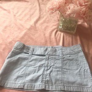 Forever 21 baby blue mini skirt